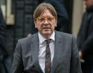 Verhofstadt: Nie mamy problemu z Polakami, tylko z polskim rządem