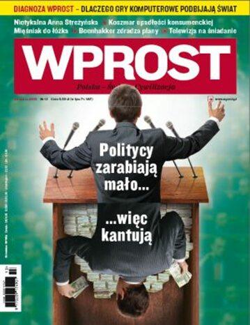Okładka tygodnika Wprost nr 13/2009 (1368)