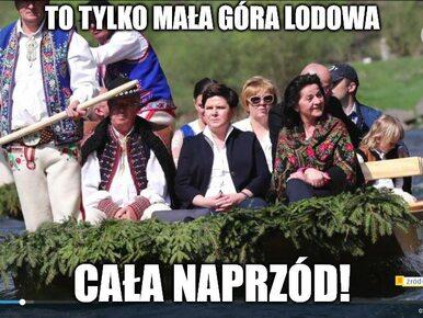 Beata Szydło na spływie Dunajcem. Z internetu spływają memy