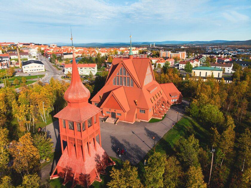 Zabytkowy kościół w Kirunie
