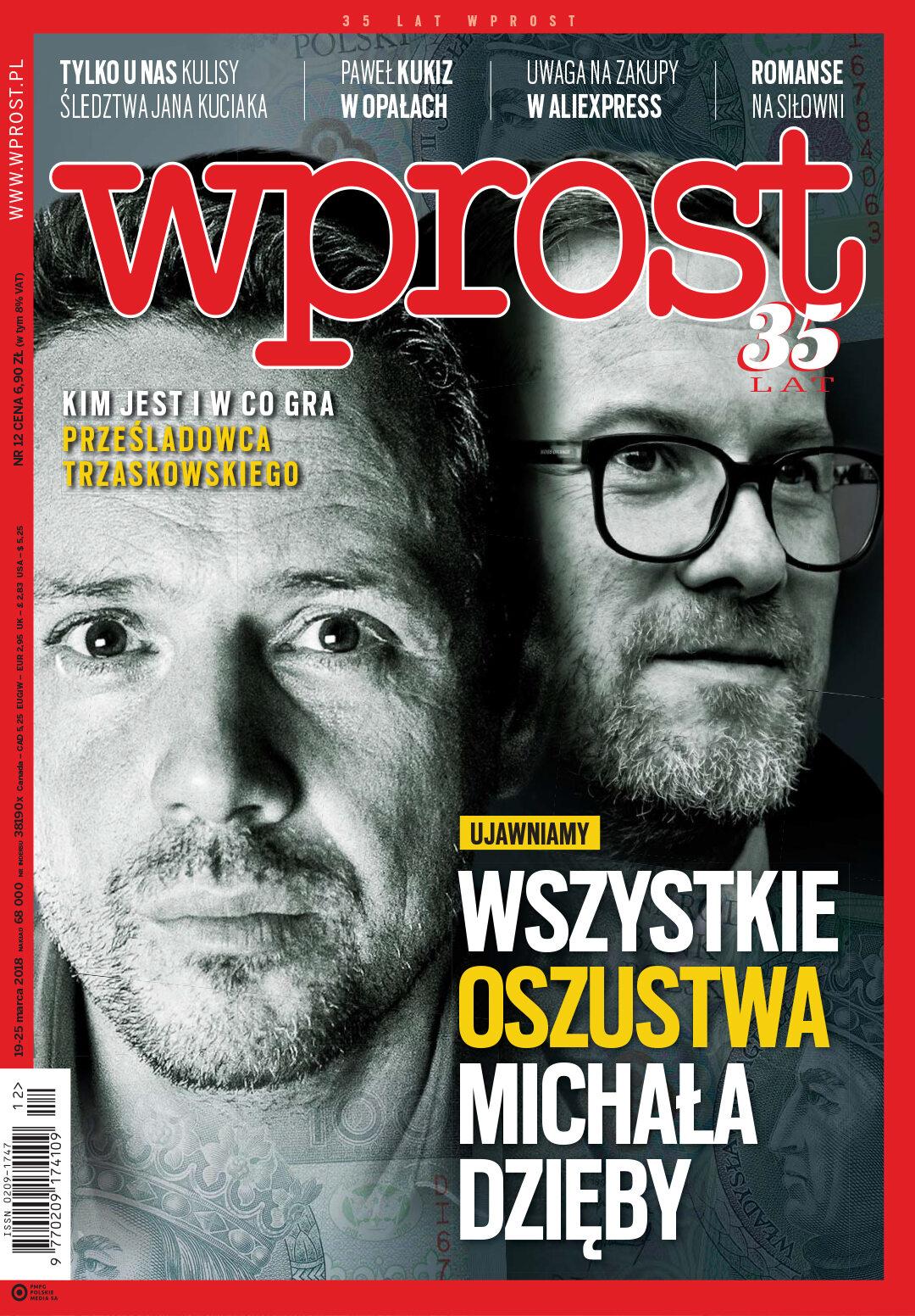 Okładka tygodnika Wprost nr 12/2018 (1828)