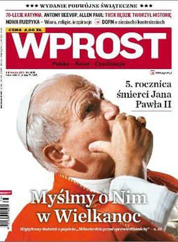 Okładka tygodnika Wprost nr 14/2010 (1418)