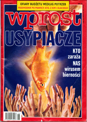Okładka tygodnika Wprost nr 26/2001 (970)
